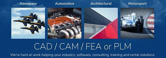 DTE Consulting Training Software CAD CAM FEA PLM industries banner crop