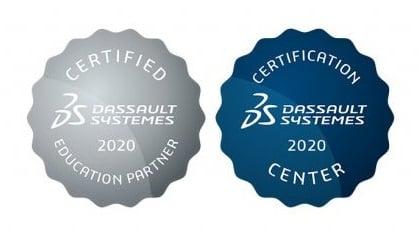 Dassault Systemes 2020 accreditation and certification centre platinum partner crop