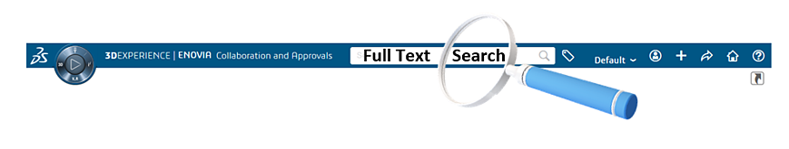 full text search 3DEXPERIENCE tags ENOVIA 3DS dashboard