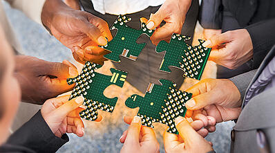 Puzzle pieces business units and semiconductor collaborative design