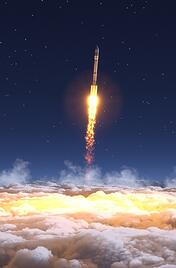 space rocket launch 3dx space technology