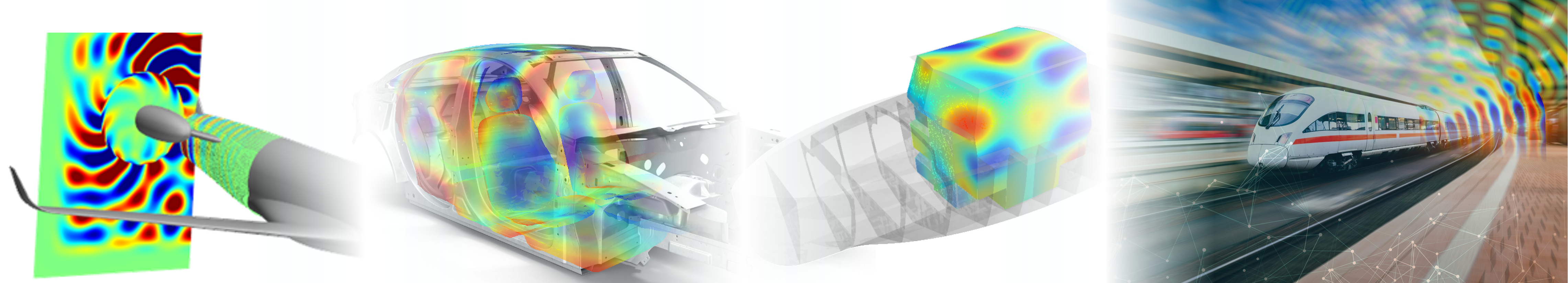 Actran, MSC Software's acoustics simulation software, designed originally for predicting noise within and around vehicles such as cars and aircraft.